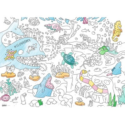 Ravensburger-10752 Color Puzzle - The World under Water