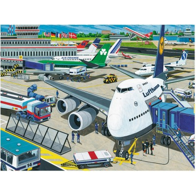 Ravensburger-10763 Jigsaw Puzzle - 100 Pieces - Maxi - Airfield