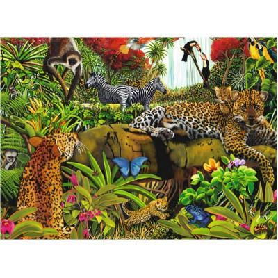 Ravensburger-10781 Jigsaw Puzzle - 100 Pieces - Maxi - Jungle Animals