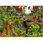 Ravensburger-10781 Jigsaw Puzzle - 100 Pieces - Maxi - Jungle Animals