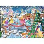 Ravensburger-10794 XXL Pieces - Glitter Puzzle - The Princesses Celebrate Christmas
