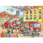 Ravensburger-10822 Jigsaw Puzzle - 100 Pieces - Maxi - Firemen to the Rescue !