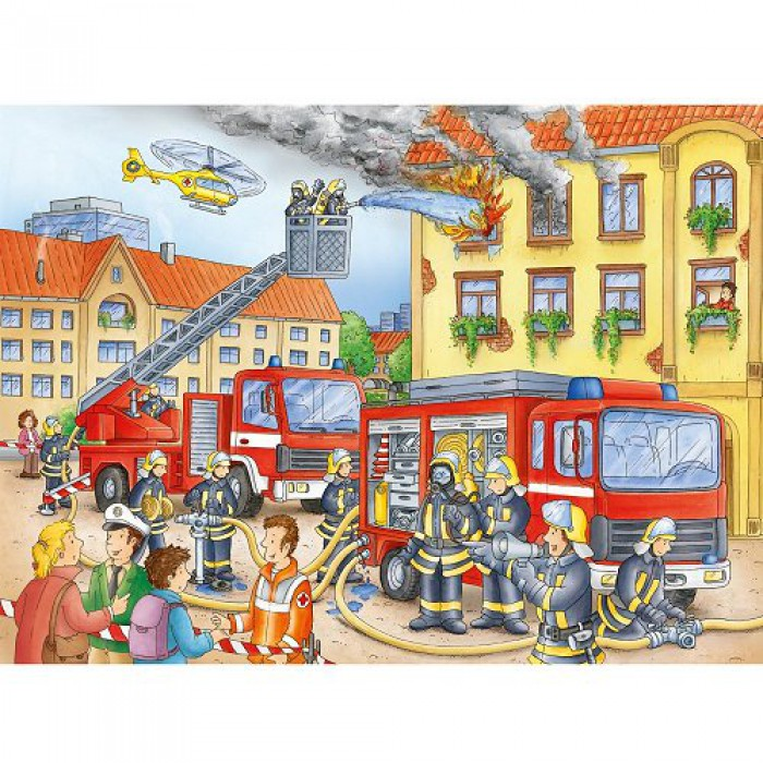 Jigsaw Puzzle - 100 Pieces - Maxi - Firemen to the Rescue !