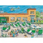 Ravensburger-10867 Jigsaw Puzzle - 100 Pieces - Maxi - At the Police Station