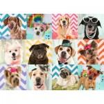 Puzzle  Ravensburger-10870 XXL Pieces - Funny dogs