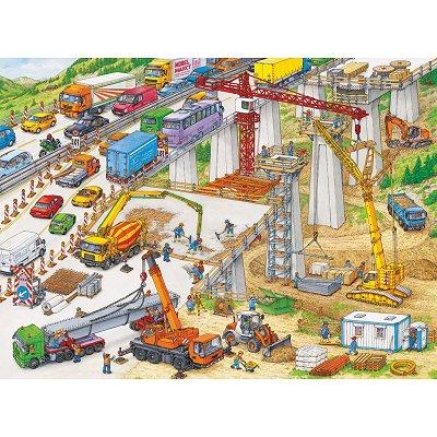 Ravensburger-10896 Jigsaw Puzzle - 100 Pieces - Maxi - Huge Building Site
