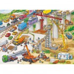 Ravensburger-10896 Jigsaw Puzzle - 100 Pieces - Maxi - Huge Building Site