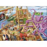 Puzzle  Ravensburger-10939 XXL Pieces - Pirates