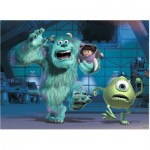 Puzzle  Ravensburger-10941 XXL Pieces - Disney Pixar Collection: Sully, Mike & Boo