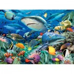 Puzzle  Ravensburger-10951 XXL Pieces - Reef of the Sharks