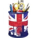 Ravensburger-11153 3D Puzzle - Pencil Cup: Union Jack