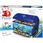 Ravensburger-11174 3D Puzzle - Treasure Chest - Underwater World