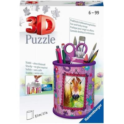 Ravensburger-11175 3D Puzzle - Pencil Cup - Horses