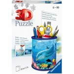 Ravensburger-11176 3D Puzzle - Pencil Cup - Underwater World