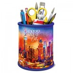 Ravensburger-11201 3D Puzzle - Pencil Cup: Skyline