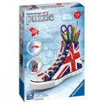 Ravensburger-11222 3D Puzzle - Sneaker Union Jack