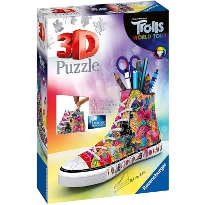 Ravensburger-11231 3D Puzzle - Trolls World Tour Sneaker