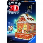 Ravensburger-11237 3D Puzzle with LED -  Gingerbread House