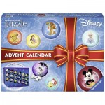 Ravensburger-11676 3D Jigsaw Puzzle - Disney Princess Advent Calendar