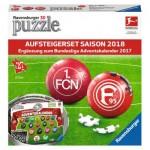 Ravensburger-11680 2 x 3D Puzzles - Bundesliga 2018