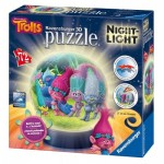 Ravensburger-11796 3D Jigsaw Puzzle with LED - Trolls