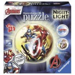 Ravensburger-11798 3D Jigsaw Puzzle with LED - Avengers