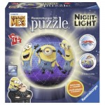 Ravensburger-11821 3D Jigsaw Puzzle with LED - Minions