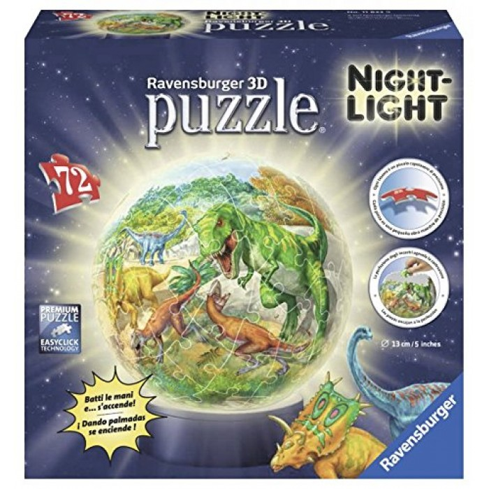 3D Jigsaw Puzzle with LED - Dinosaurs