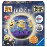Ravensburger-11834 3D Jigsaw Puzzle with LED - Minions