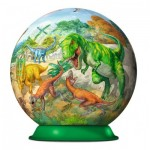 Ravensburger-11838 3D Puzzle-Ball - Dinosaurs