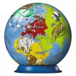 Ravensburger-11840 3D Puzzle-Ball - World map for children