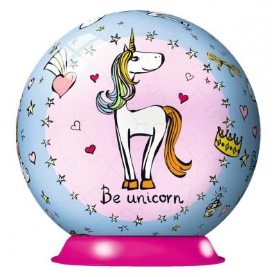 Ravensburger-11841 3D Puzzle-Ball - Be Unicorn