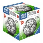 Ravensburger-11937-05 3D Puzzle-Ball - 1986 Fifa Word Cup
