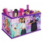 Ravensburger-12091 3D Puzzle - Girly Girls Edition - Storage Box: Violetta