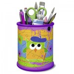 Ravensburger-12106 3D Puzzle - Girly Girls Edition - Pencil Cup Owls