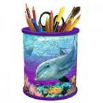 Ravensburger-12116 3D Puzzle - Pencil Cup: Underwater world