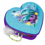 Ravensburger-12118 3D Puzzle - Heart Box - Underwater World