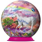 Ravensburger-12129 Puzzle Ball: Unicorn