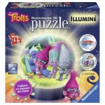 Ravensburger-12138 3D Jigsaw Puzzle with LED - Trolls