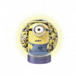 Ravensburger-12180 3D Jigsaw Puzzle with Led - Minions