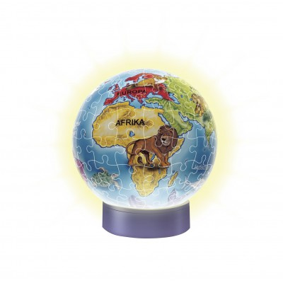 Ravensburger-12184 3D Jigsaw Puzzle with Led - The Children World Globe