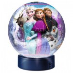 Ravensburger-12190 Frozen - 3D Puzzle-Ball with Led