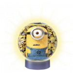 Ravensburger-12191 Minions - 3D Puzzle-Ball with Led