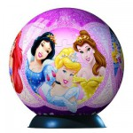 Ravensburger-12208 Puzzle Ball - 108 Pieces - Disney Princess