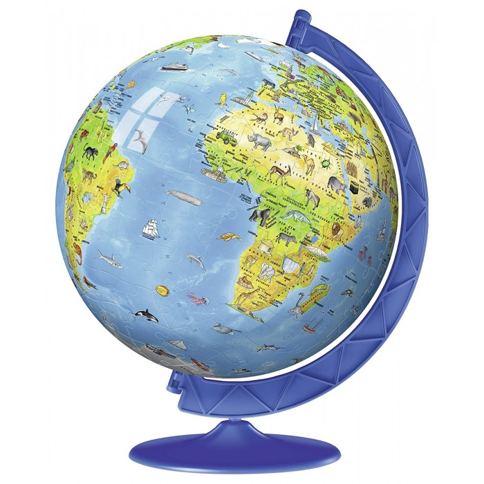 3D Puzzle - World Map in French
