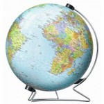 Ravensburger-12435 3D Jigsaw Puzzle - Globe in German Language