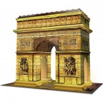 Ravensburger-12522 3D Puzzle with LED - Arch of Triumph at Night
