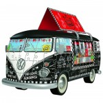 Ravensburger-12525 3D Jigsaw Puzzle - Volkswagen T1 - Food Truck