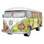 Ravensburger-12532 3D Puzzle - Volkswagen T1 - Hippie Style