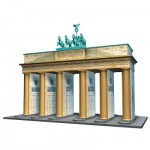 Ravensburger-12551 Jigsaw Puzzle - 3D - 324 Pieces : Brandenburg Gate, Berlin
